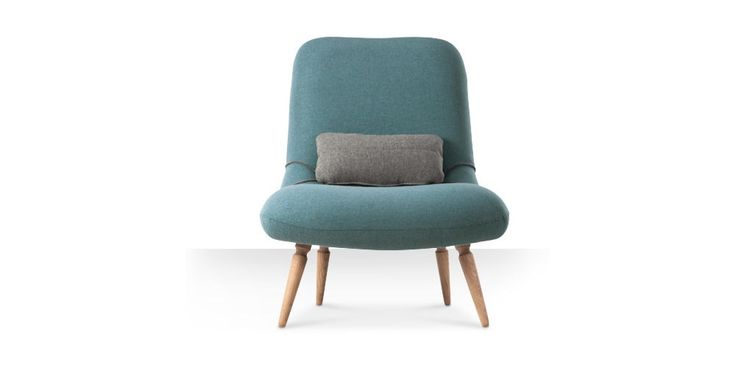 Swoon Editions Armchair, mid-century style in Powder Blue - £349