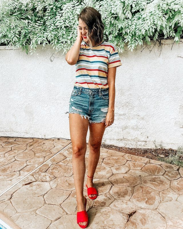 6d47d5fad85 summer outfits  style  ootd. summer outfits  style  ootd Denim Shorts Outfit  ...