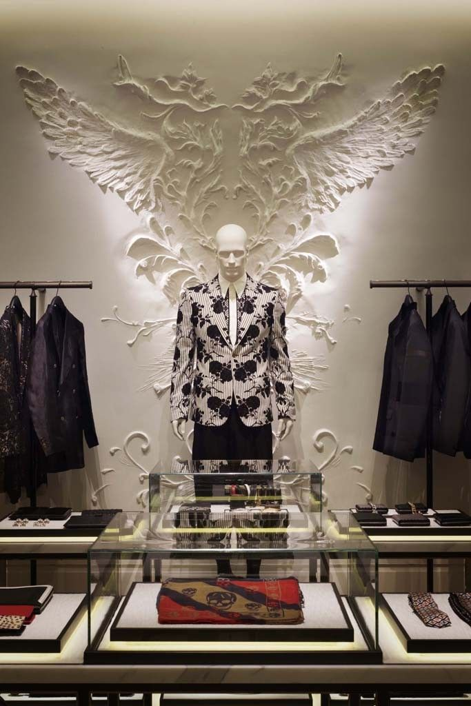 "ALEXANDER McQUEEN, Aoyama,Japan, ""The natural fit for our brand', pinned by Ton van der Veer"