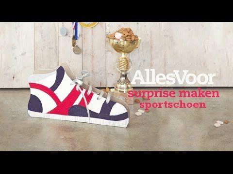 AllesVoor Sint surprise maken - sportschoen #AllesVoor #Surprise #Sinterklaas #Schoen