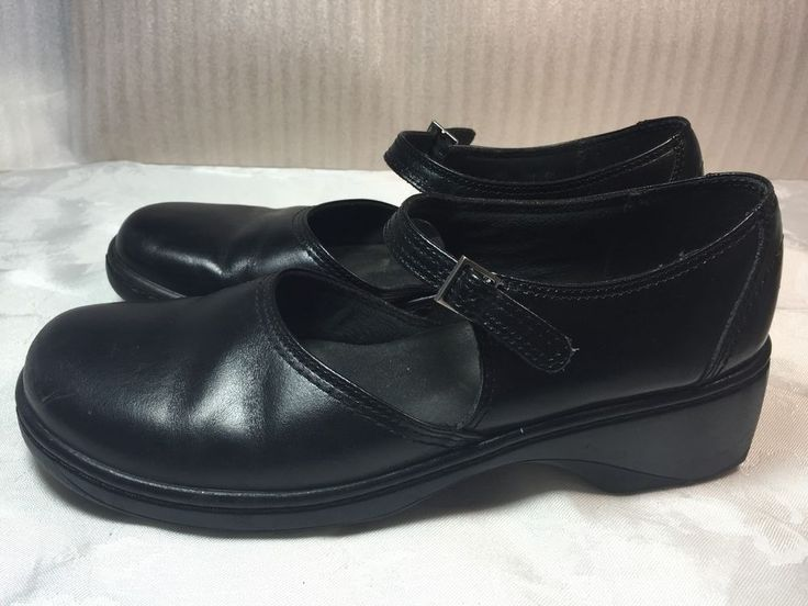 Clarks Mary Jane Shoes Unstructured Black Leather Womens 9 M #Clarks  #MaryJanes #Casual
