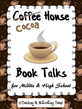 Just copy the sheets, add the cocoa, and you'll be sure to ignite your students' interest in discussing their novels. Fun and engaging literary analysis, interpretation, and synthesis activity - for individual preparation work, then small group sharing.