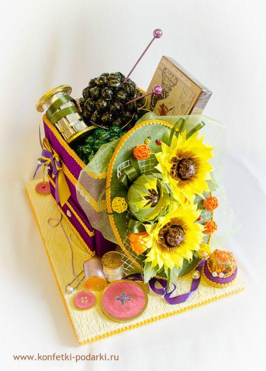 Gallery.ru / Сундучок рукодельницы - Сладкие подарки - konfetki-v-podarok