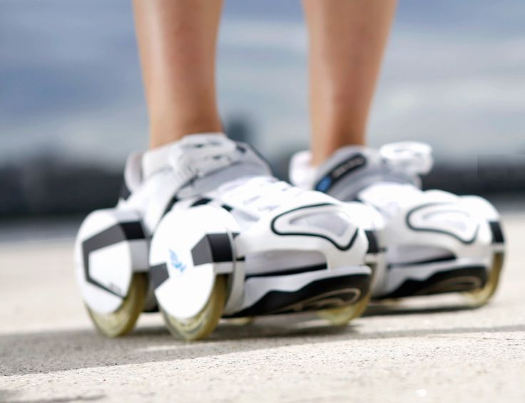 With Walk Wing, the retractable #wheels you can slip onto you #shoes, you can walk and ride as though there are wings on your feet.