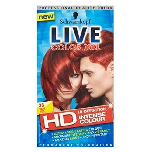 Schwarzkopf Live Color Xxl Hd 35 Real Red Permanent Red Hair Dye -- You can get additional details at the image link. #hairdressing