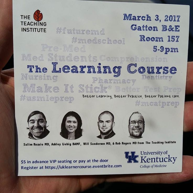 Okay Lexington Ky im sure youve seen these flyers floating around and... Tonight's the night! Anybody looking for a leg up as a student or some assistance in becoming the best learner you can be; The learning course is here! #lexingtonky Gatton B&E at 5pm. Be there!! . . . . . #education #medschool #medicalschool #orthodontics #pharmacy #nursing #student #nurse #aprn #rn #bsn #uky  #physicianassistant #tti #universityofkentucky #doctor #attending #residentlife #resident #business
