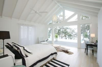 modern, weatherboard, beach cottage, white, high ceilings,