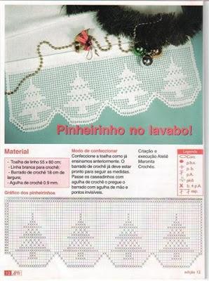 Gardine Filet häkeln  ...  crochet - cortinas - curtains esquema pinitos