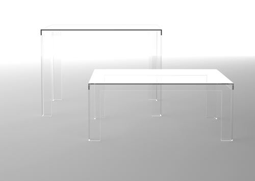 In 2010 Tokujin Yoshioka introduced The Invisibles, a collection of invisible furniture for Kartell that employed their pioneering polycarbonate technology to produce a thickness never before seen or manufactured.