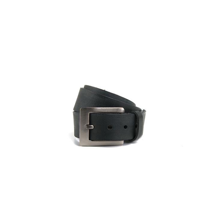 STITCH & HIDE - B40 Leather Belt- Steele Blac