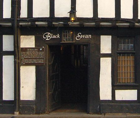 The Black Swan, Peasholme Green.  One of the oldest pubs in York, built in 1417 and retains its original 17th Century interior.