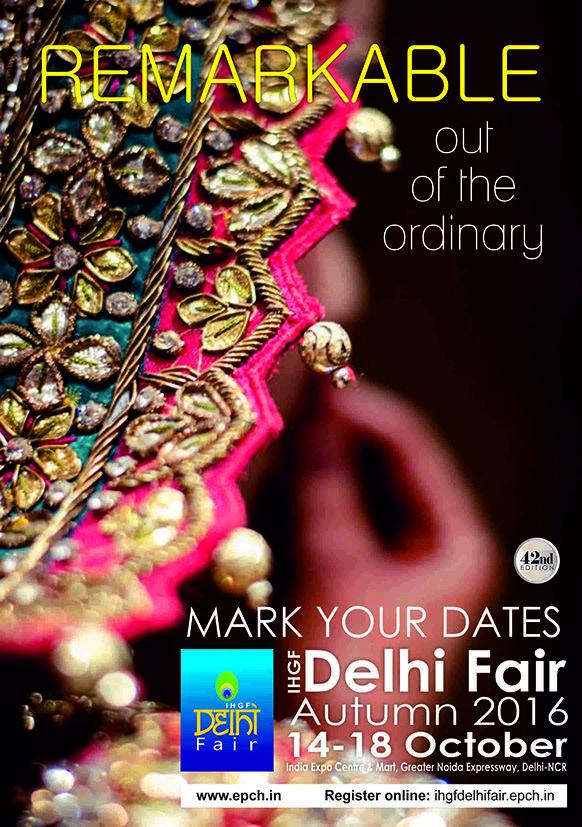 IHGF Delhi Fair Autumn, 2016 #handicrafts #homedecor #lifestyle #fashion #textiles #tradeshow