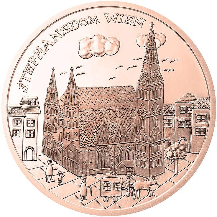 10 € Kupfer Münze Österreich 2015 Wien