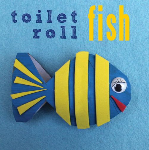 Toilet Roll Fish - easy craft idea for kids from The Craft Train