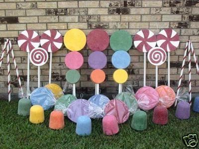 Candyland Willie Wonka Lollipop Gumdrop Candy Sticks   Gingerbread House Theme~Christmas