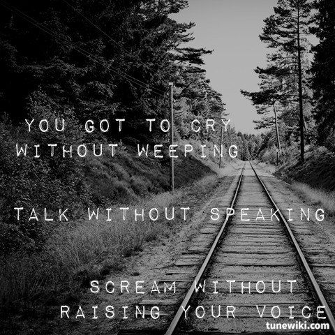 "-- #LyricArt for ""Running To Stand Still"" by U2"
