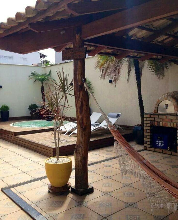 26 mejores im genes sobre patio piscina y quincho en for Pileta jardin pequeno