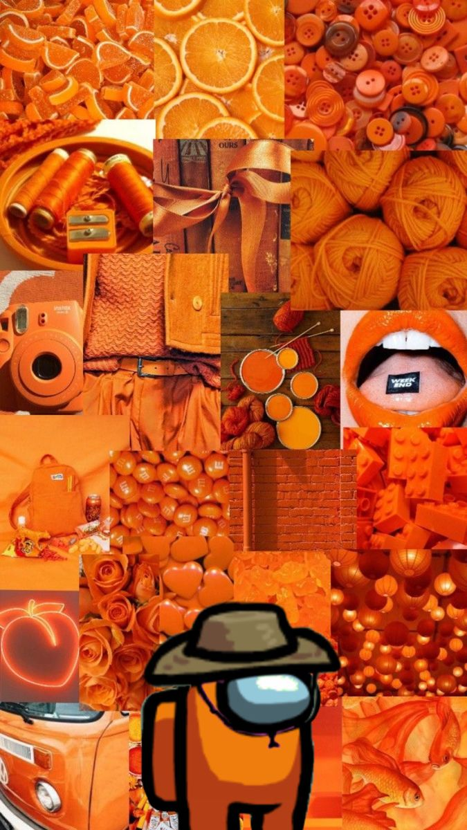 Among Us Retro Wallpaper Iphone Orange Wallpaper Aesthetic Iphone Wallpaper