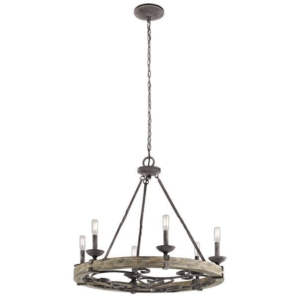 Shop kichler lighting 43823 taulbee 6 light chandelier at lowe canada find our selection of chandeliers at the lowest price guaranteed with price match