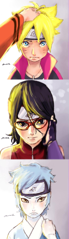Boruto, Sarada and Mitsuki - Boruto: Naruto Next Generations