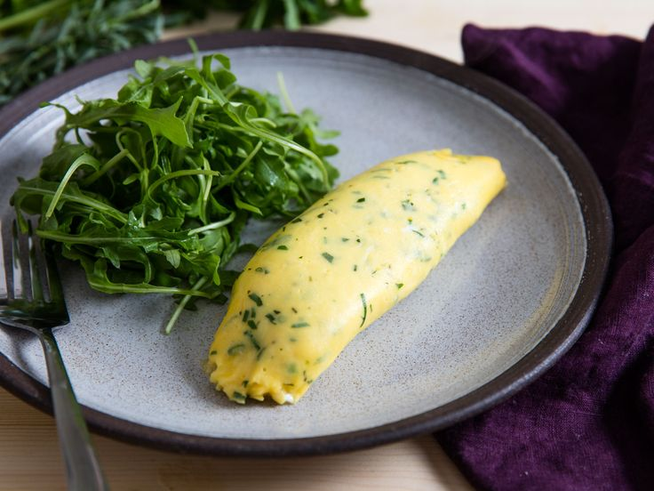 A classic French omelette has a smooth, silky exterior with little to no browning that cradles a tender, moist, soft-scrambled interior. The technique for making one is something every cook should learn—as long as you know these key steps, it's easy. This version is flavored with minced fresh herbs, like parsley, chives, and tarragon.