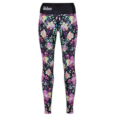 Tikiboo Neon Flowers Leggings #Activewear #Gymwear #FitnessLeggings #Leggings #Tikiboo #Running #Yoga