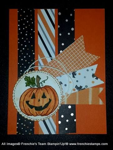 Hello my Friends      Today it all about spooky Halloween with Frenchie's Team. I challenge them to share Halloween card last month and w...