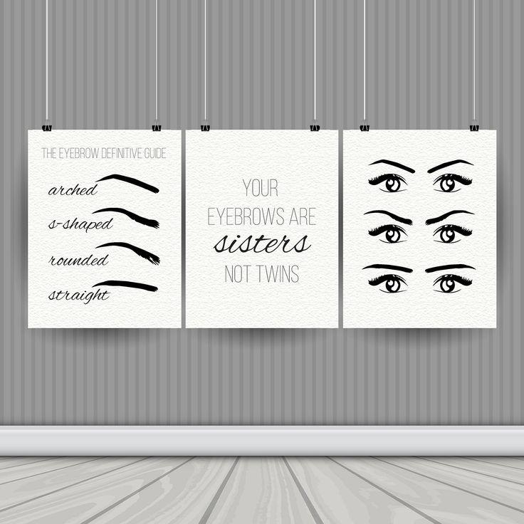 Salon Decor Instant Download Printable Art Eyebrow Printable Brow