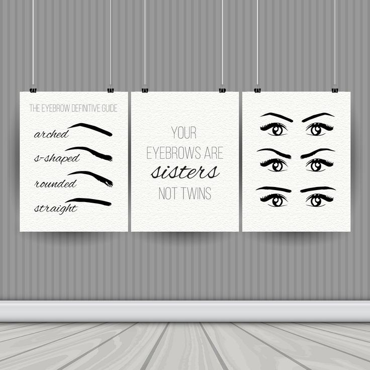 Salon decor instant download printable art eyebrow printable brow salon decor printable salon decor art salon digital art printable