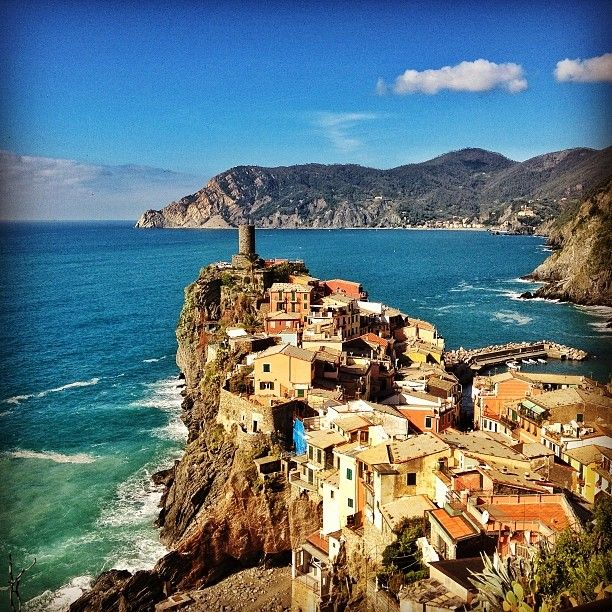 Visited the Cinque Terre in Italy.  Bought a day pass for the train and was able to visit all five towns located in this beautiful national park.  Definitely worth the visit.  Gets a little hot in the summer months!