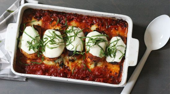 A lighter take on chicken parm