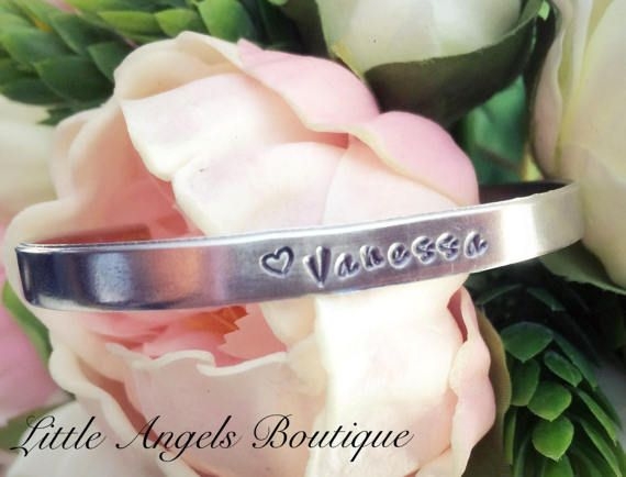 Stackable Bracelet with personalized name by littleangelsboutique