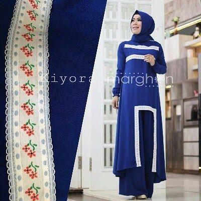Kiyora by Marghon set kulottunik  pasmina  Bahan ity crepe kombinasi renda katun bunga Allsize LD 100  Retail: 375.000 Reseller 355.000 est. ready 10 Des  Dp 50% = Booking  Line @kni7746k  Wa 62896 7813 6777  #pin #kiyorabymarghon #hijaboftheday #ottdhijabbranded #otthijab #hijabootd
