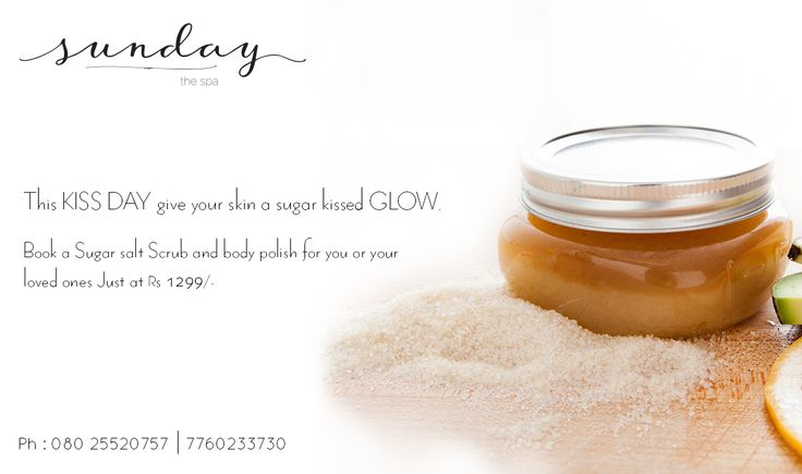 Make your Monday a little salty yet a little sweet. Scrub your tan and dry skin with our Sugar and Salt Organic Scrub at just Rs 1299. Call : 7353572200 #sugarscrub #sundaythespa #valentineweek #loveyourskin #goorganic #Valentinegift