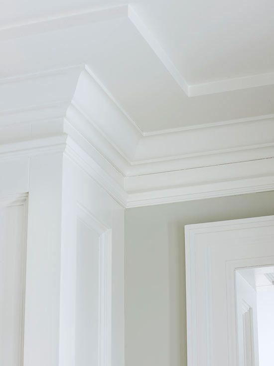 Accentuate Crown Molding - Trimwork and crown molding are jewelry for walls, doors, and windows. Whether you're replacing old trim or starting fresh, you can transform a room with trim in a weekend. Give your home a complete look for less with affordable, off-the-rack moldings from a local home improvement center. For a classic, custom look, layer pieces of crown molding around entryways and ceilings.