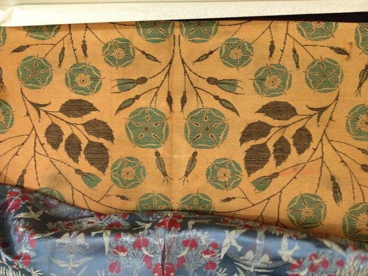 M H Baillie Scott design woven for house in Welwyn Garden City woven by St Edmundsbury Weavers c1901