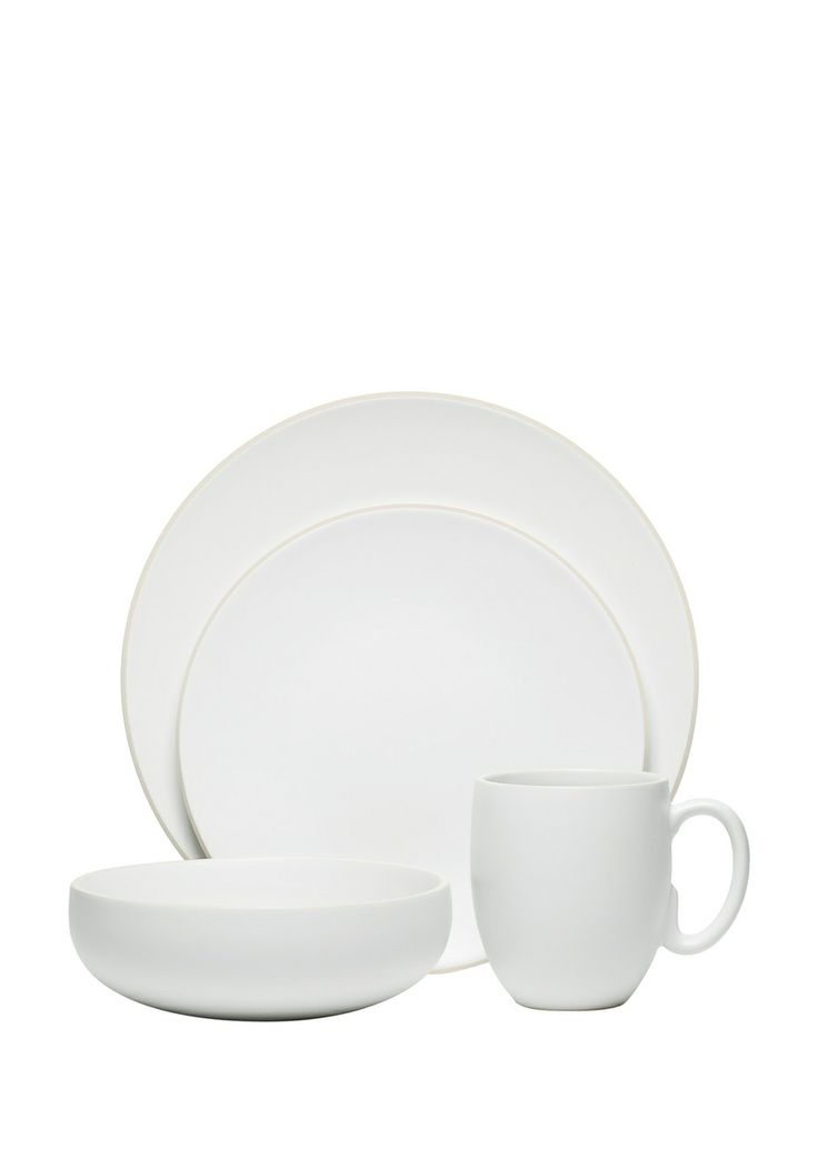 4-Piece Chalk Place Setting 4-Piece Chalk Place Setting; Set includes:    Dinner plate Salad plate Bowl  Mug; Dinner plate; Salad plate; Bowl; Mug; Practical casual dining dinnerware decorated with an understated, yet beautiful palette of neutral color; Ideal for informal and everyday dining Earthenware #Bowl #Dinnerware #PaletteHome #Kitchen