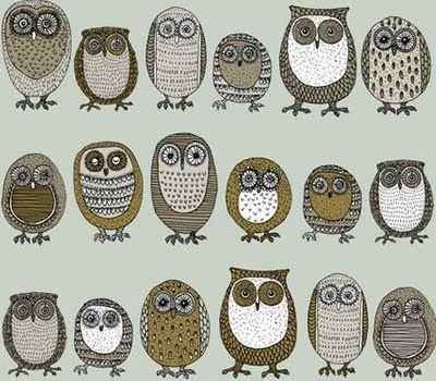 Mid-Century Modern Owls