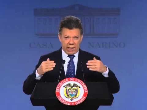 Alocución del Presidente de la República de Colombia Juan Manuel Santos criminalizando