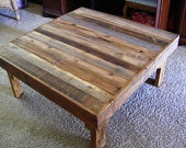 "Rustic Reclaimed Wood Coffee Table or Bench 48x18x17"" high Use Outdoors or Indoors. $175.00, via Etsy.  I just ordered this...I can't wait to see it!"