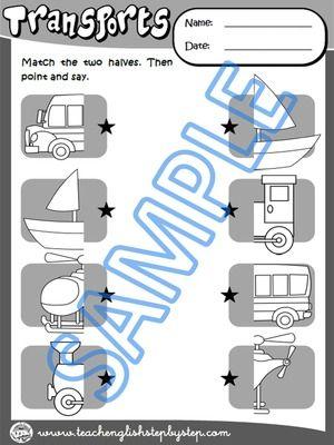 Matching Worksheet 2 (B&W version)