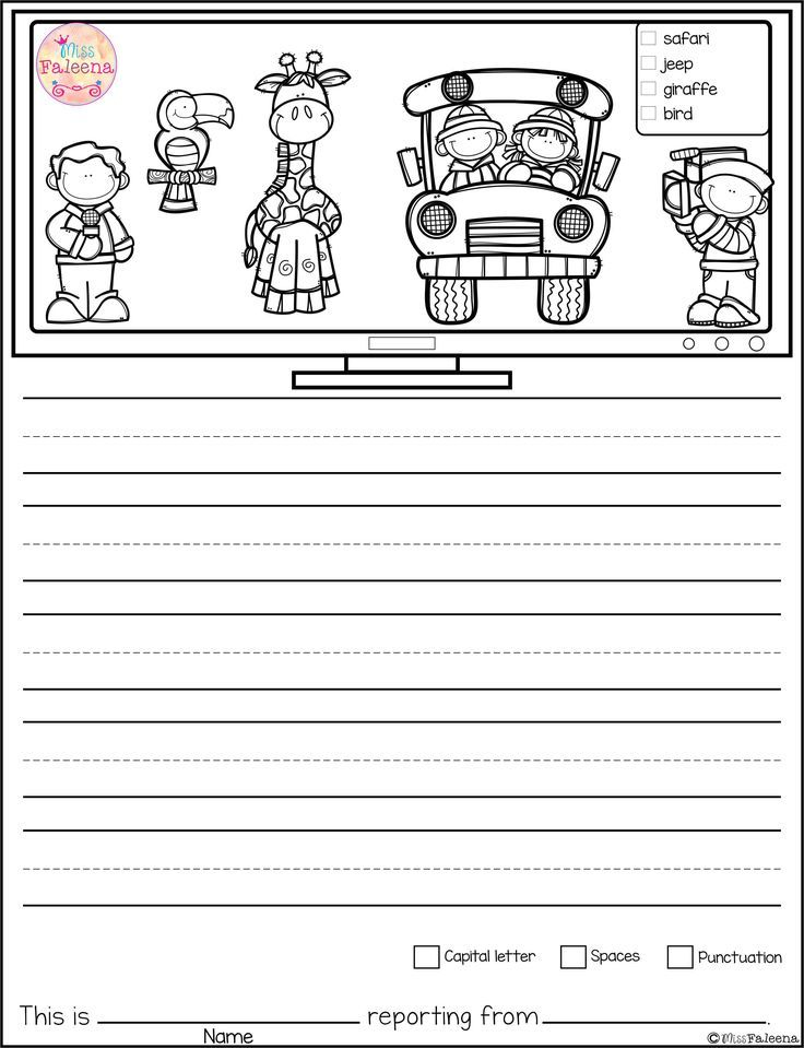 Free Writing Picture Prompts - News Reporter contains 15 free pages of picture prompts worksheets. This product is suitable for kindergarten and first grade students. Children are encouraged to use thinking skills by becoming news reporter while improving their writing skills. Kindergarten | Kindergarten Worksheets | First Grade | First Grade Worksheets |Free Writing picture Picture Prompts | Writing Prompts | Picture Prompts Worksheets | Kindergarten Writing | Safari