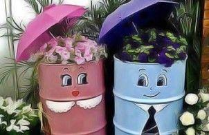 recycler vieux objets pour décorer jardin