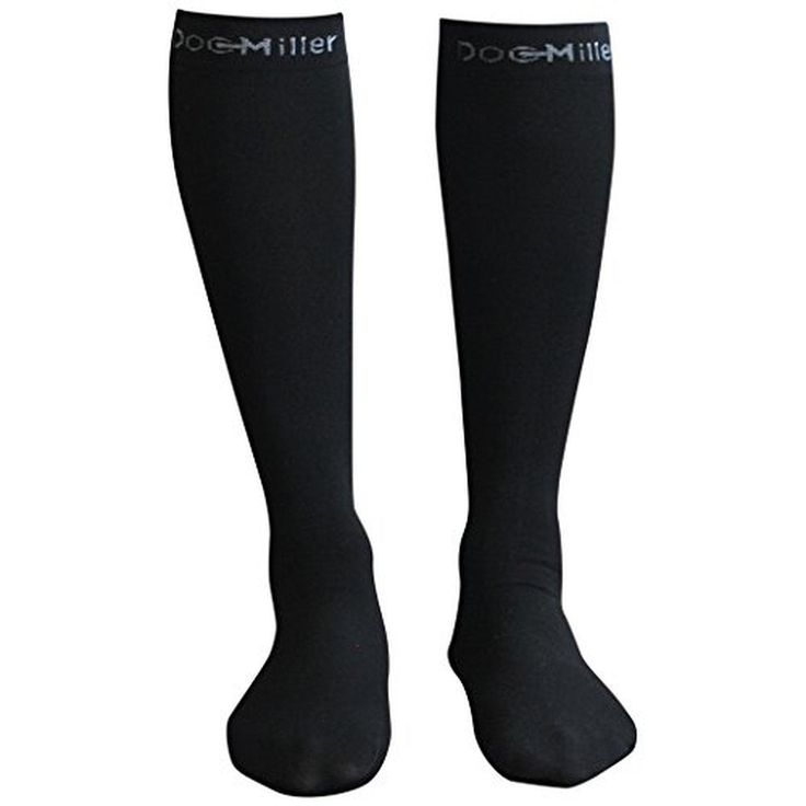 Premium Calf Compression Socks 1 Pair 20-30mmHg Strong Calf Support Graduated Pressure for Sports Running Muscle Recovery Shin Splints Varicose Veins Doc Miller (Black Sock, X-Large) - Brought to you by Avarsha.com
