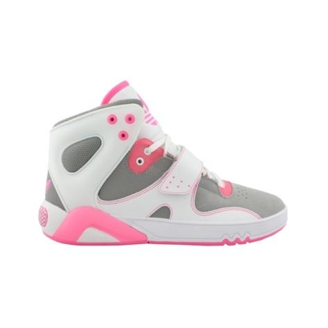 Adidas Roundhouse Athletic Shoe Grey White Pink