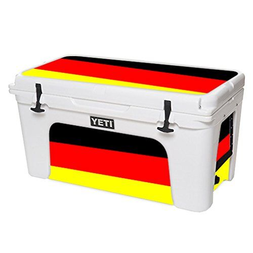 MightySkins Protective Vinyl Skin Decal for YETI Tundra 75 qt Cooler wrap cover sticker skins German Flag >>> Read more reviews of the product by visiting the link on the image.(This is an Amazon affiliate link and I receive a commission for the sales)