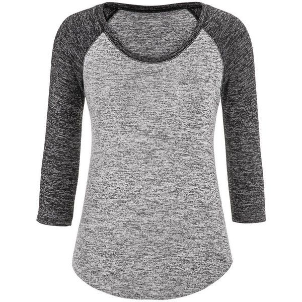 maurices Baseball Tee With 3/4 Length Sleeves found on Polyvore featuring tops, t-shirts, shirts, black, 3/4 length sleeve shirts, t shirts, 3/4 sleeve baseball tee, baseball tshirt and stretch t shirt