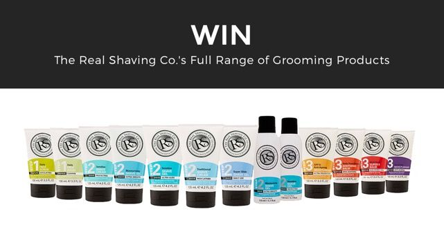 Win The Real Shaving Company's Full Range of Grooming Products