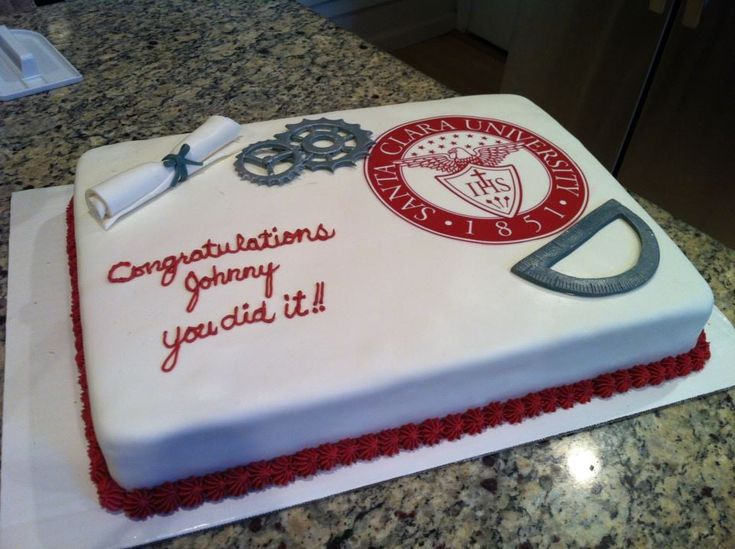 Photo of SweetArts - Tracy, CA, United States. Graduation Cake for Masters in Mechanical Engineering