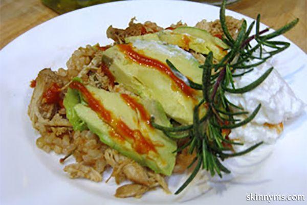 HealthyCrockpot Brown Rice & Chicken with Avocado. It's delicious. # ...
